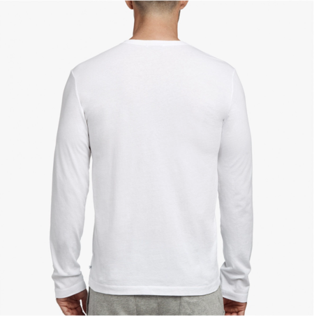 James Perse Long Sleeve Crew - White