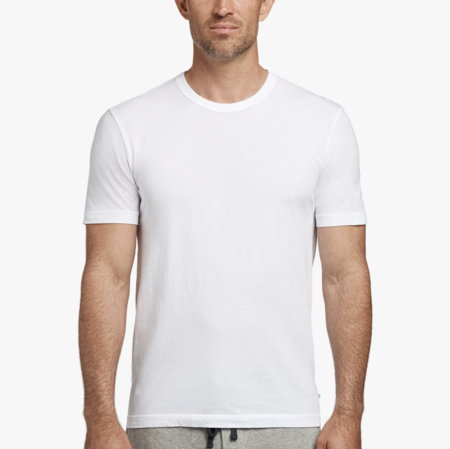 James Perse Short Sleeve Crew - White