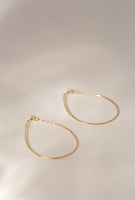 Circadian Studios Medium Float Teardrop Earrings - 14K Gold