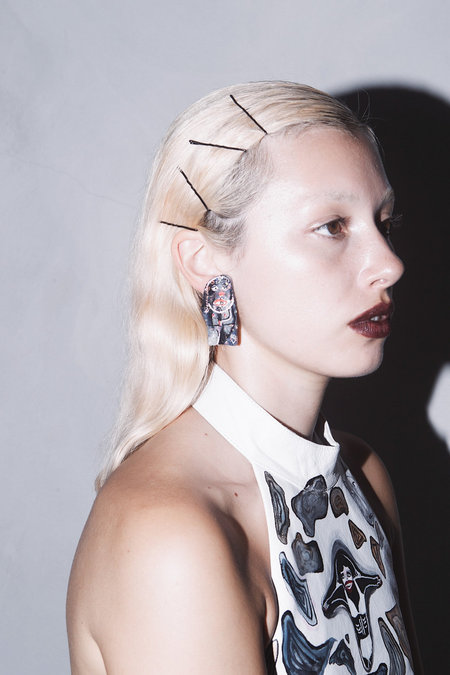 CLAIRE BARROW 'SEXY' PEOPLE EARRINGS #1