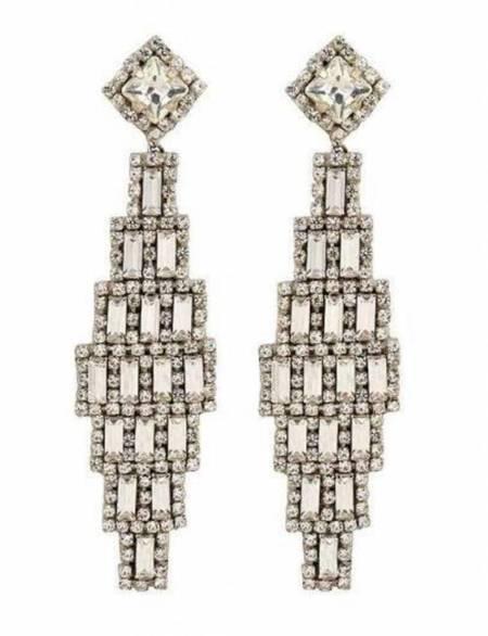 Deepa Gurnani Milana Earring - Silver