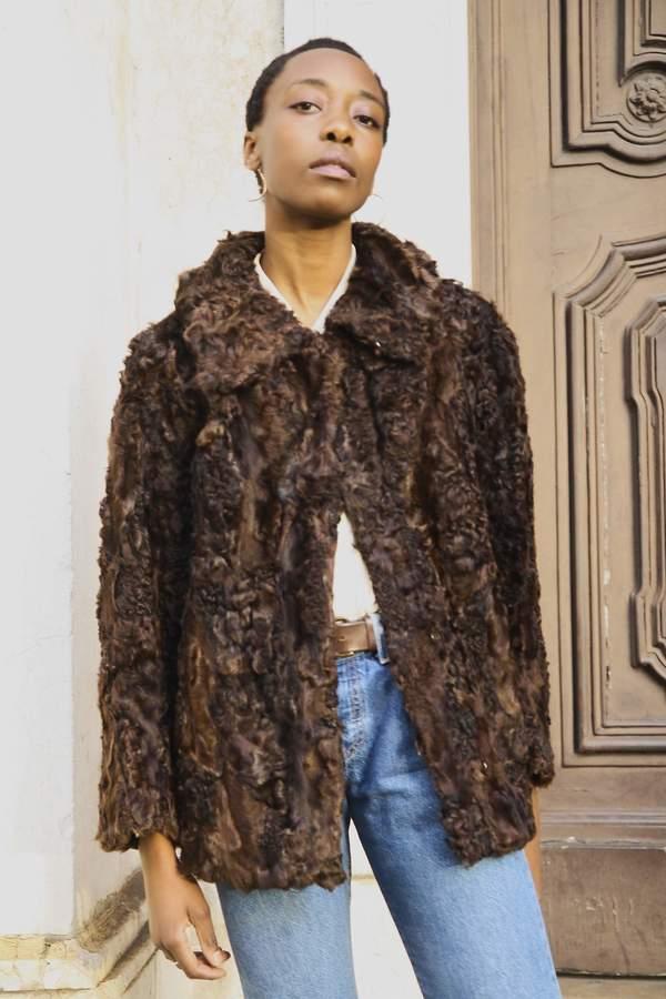 Bird On A Wire Vintage Calf Wool Coat - Dark Brown