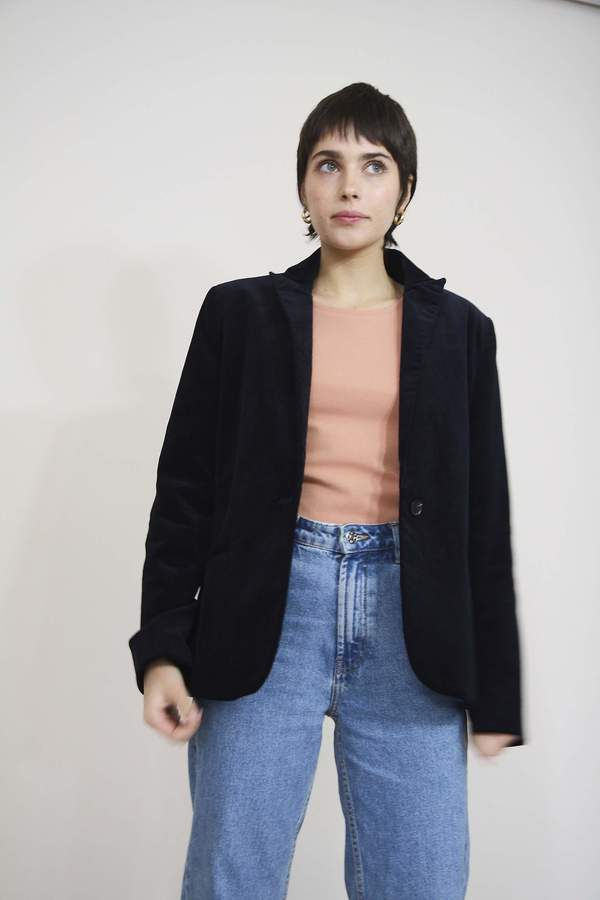 Yuka Paris Susan Corduroy Jacket - Navy