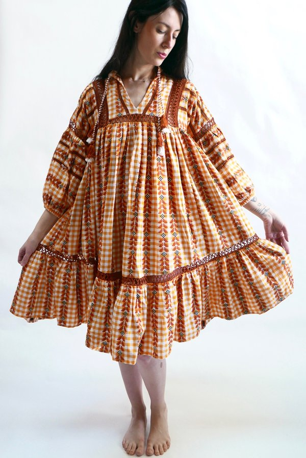Dodo Bar Or.Dodo Bar Or Elena Dress Mustard On Garmentory