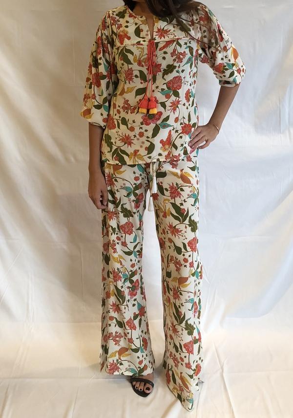Figue Ipanema Wide Leg Pant - Floral