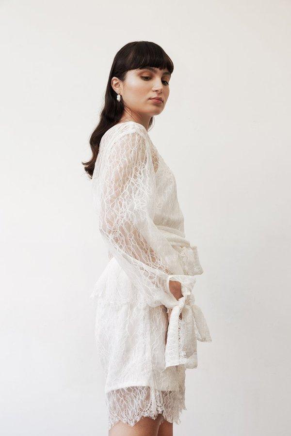 Sunshine Symbol Gertrude blouse - Ivory Lace