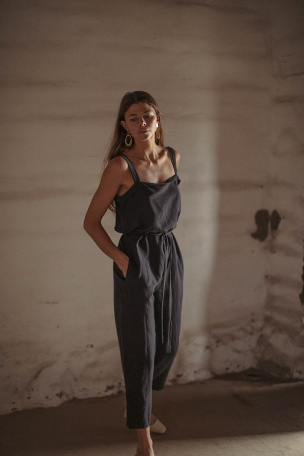 b01bb34caf Ozma Light Silk Linen Alicante Jumpsuit