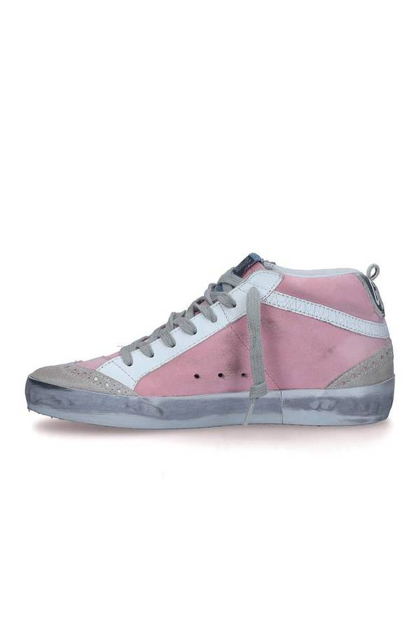 0a01d8d3e7faf Golden Goose Mid Star Sneakers - Pink White Star
