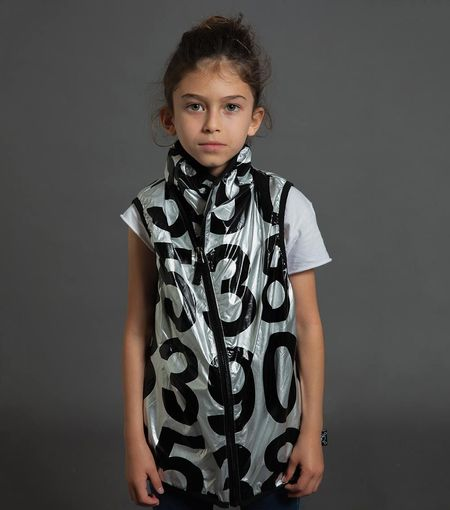 Kids Nununu Nylon Numbered Vest - Silver
