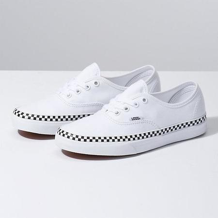 VANS CHECK FOXING AUTHENTIC SNEAKER - WHITE
