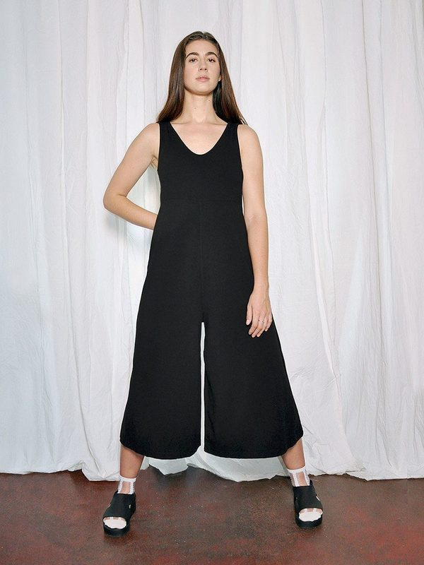 Mien Lakeside Wide Leg Jumpsuit True Black Garmentory
