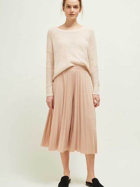 Great Plains Pleat Culottes - Cameo Rose