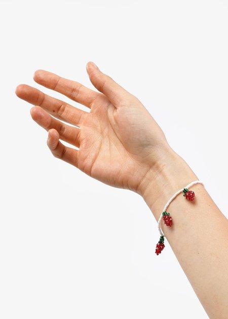 Pura Utz Strawberry Beaded Bracelet