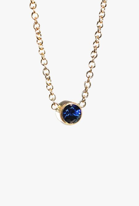 Lumo 16in Sapphire Necklace - 14k yellow gold/Blue Sapphire