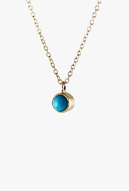 Lumo 16in Turquoise Necklace - 14k yellow gold/Turquoise