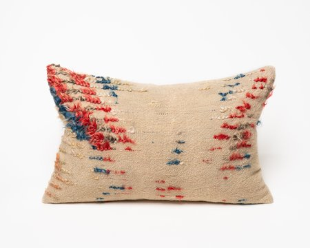 Collected by Wynne Ware Antique Red & Blue Tülü Kilim Pillow Cover