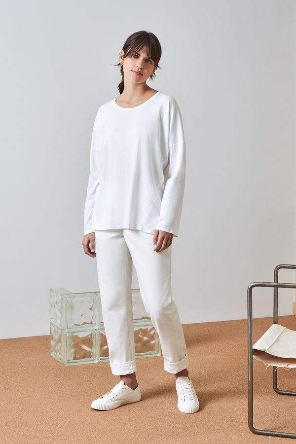 Kowtow Building Block Relaxed Long Sleeve Top