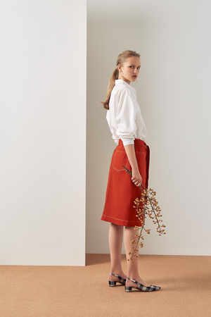 Kowtow Button Up Skirt