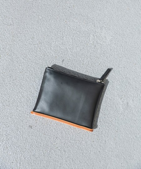 BUILDING BLOCK SMALL POUCH - BLACK