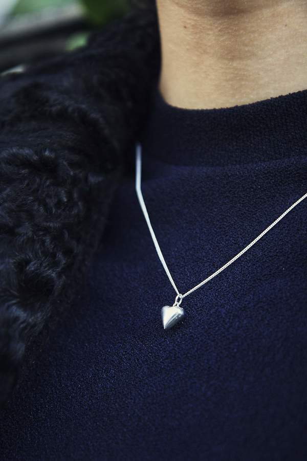 Bird on A WIRE Brigitte Heart Pendant Necklace - Sterling Silver