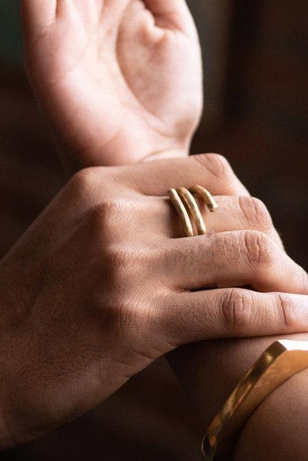 UNISEX Eyde The Vincent Ring - Brass