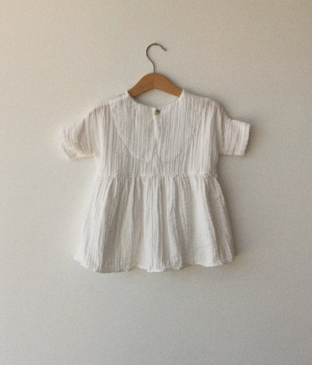 KIDS Boy+Girl Una Baby Dress - WHITE