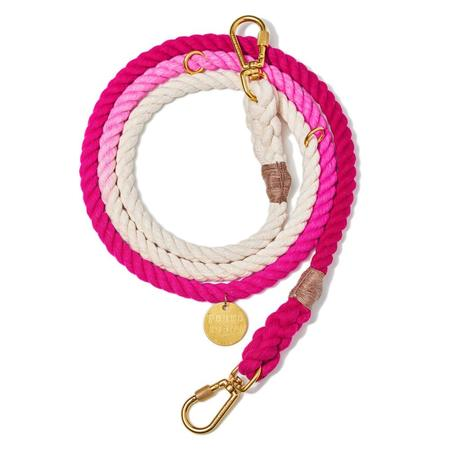 Found My Animal Ombre Adjustable Rope Leash - Pink