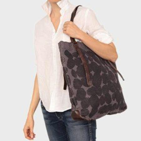 49 Square Miles Dots Printed Canvas Tote Bag