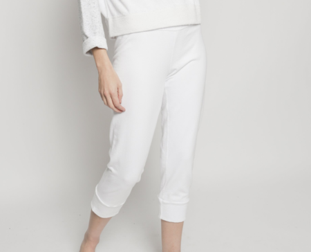 Christina Lehr Patch Easy Rider Pant - White