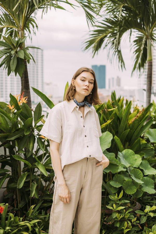 Unisex Seeker x Retriever Essential Short Sleeve Shirt - Natural