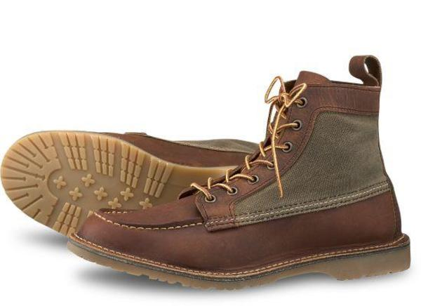 7c173c042a2 Red Wing Shoes 3335 6-Inch Wacouta Canvas Mock - Copper Rough & Tough  Leather on Garmentory
