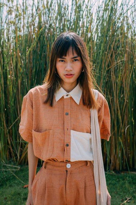 UNISEX Seeker x Retriever Two-tone Short Sleeve Shirt - Canyon/Natural