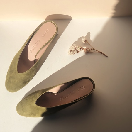 GRAY MATTERS MILDRED MULES - MOSS - EXCLUSIVE
