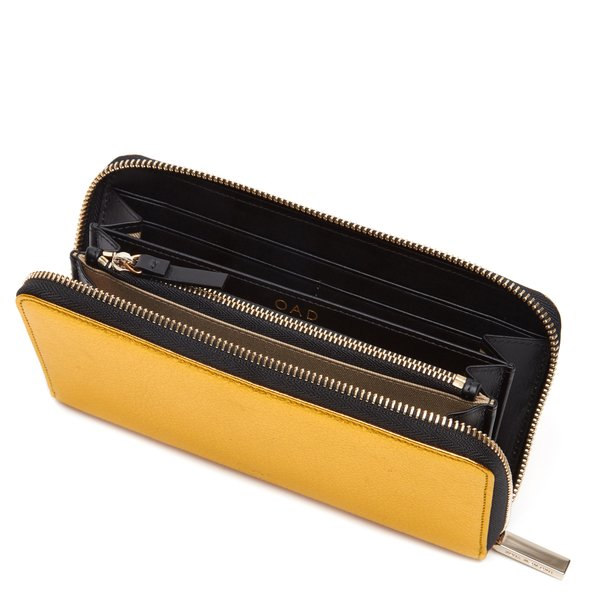 OAD Continental Carryall Wallet - Honey Gold / Black