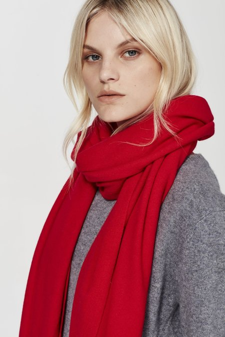Laing Home The Cashmere Wrap - Red