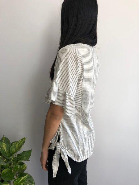 Melissa Nepton Lohi Blouse - Broken White/black Striped