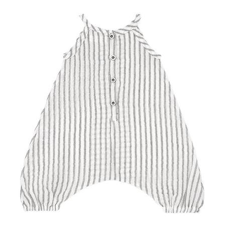 KIDS 1+ In The Family Monty Jumpsuit With Ruffles - Black And White Stripes