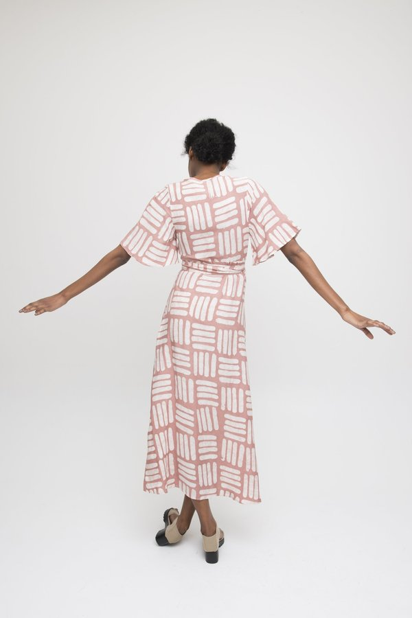 Osei-Duro Tulip Wrap Dress - Pink Basket