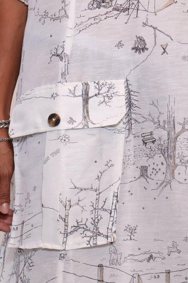 47d1cb8fd7 Ganni Silk Linen Dress - Egret.  505.00. Ganni