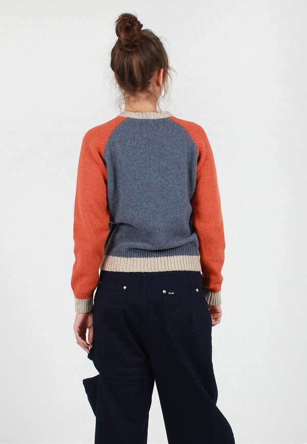 2a8bed10103c Wood Wood Asta Knit Sweater - Dusty Blue Colourblock | Garmentory