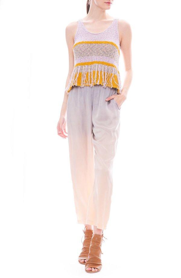 5627b5c759bc86 Raquel Allegra Knit Fringe Tank - Lilac Gold