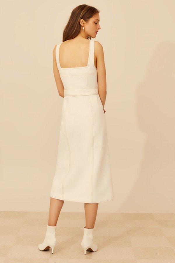 Cameo Devoted Midi Dress - Ivory