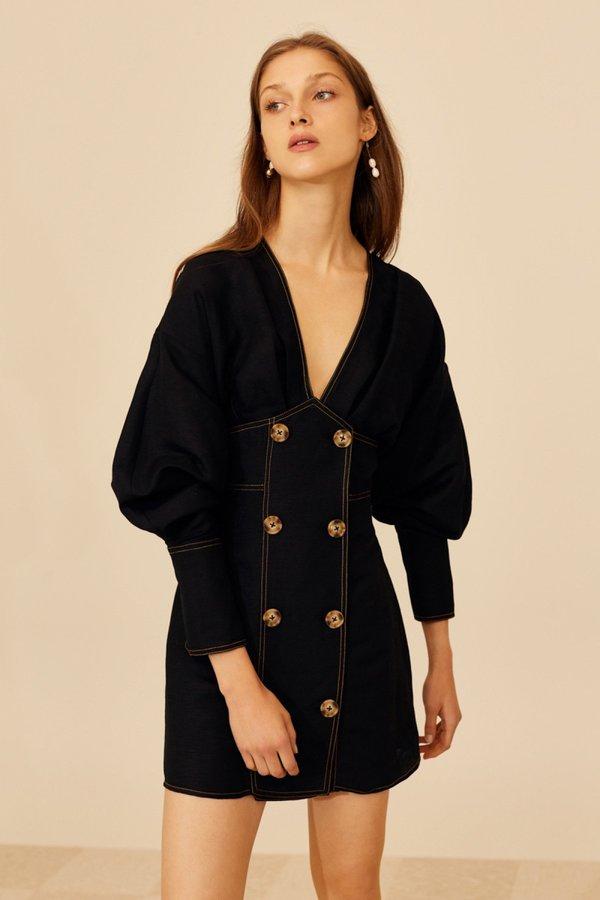 Cameo Devoted Mini Dress - Black