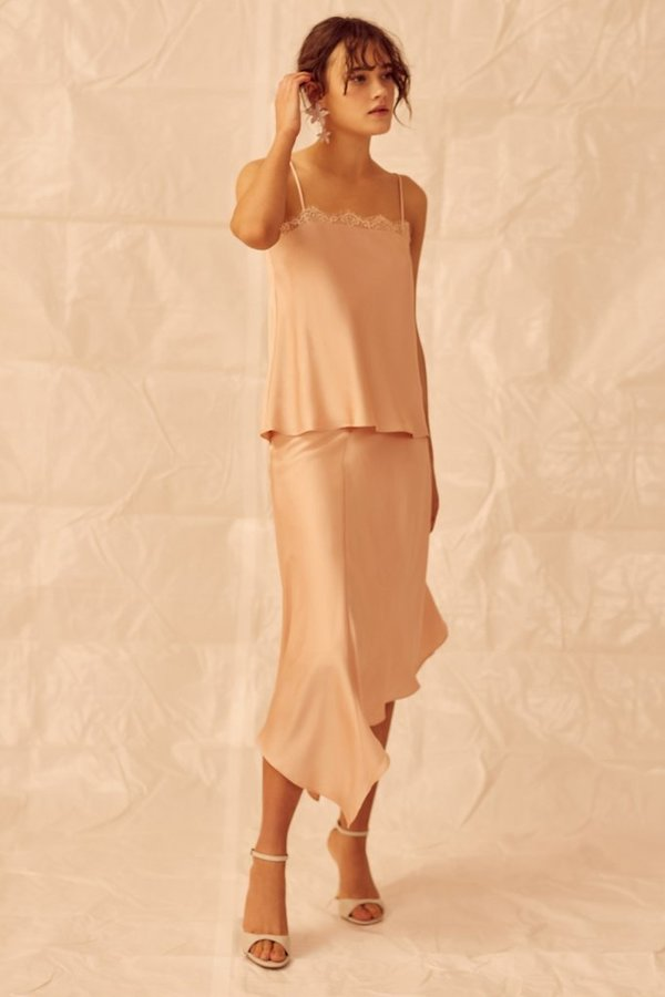 Keepsake Don't Go Skirt - Nude