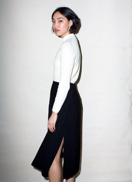 KAAREM Patches Midi Skirt - Textured Black
