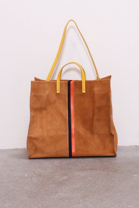 Clare V. Simple Suede Tote - Camel
