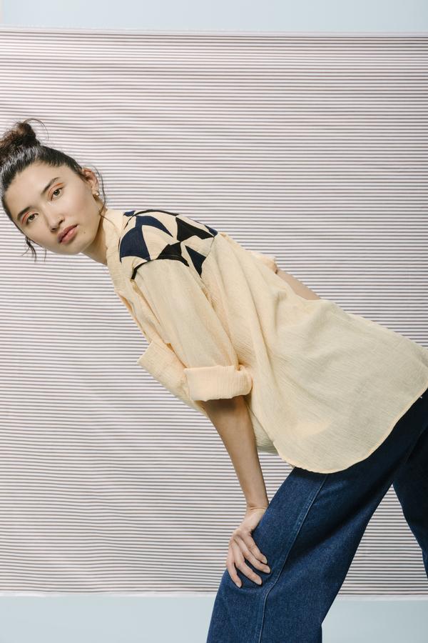 Carleen Alain Patchwork Ls Shirt