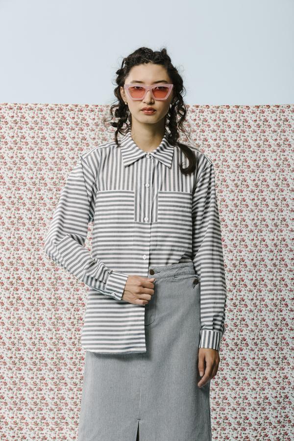 Carleen Alain Striped Long Sleeve