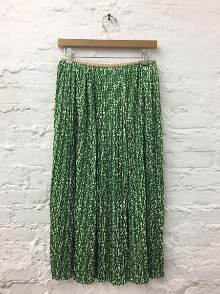 A Détacher Seraphine Skirt in Green Multi Logo Print