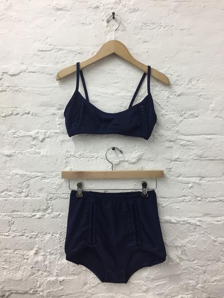A Détacher Amanda Braided Swim Top in Navy Egyptian Blue